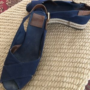 Beautiful Tory Burch Navy Espadrilles
